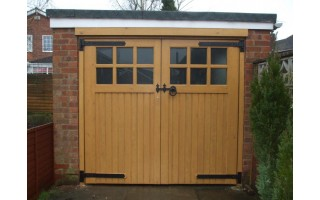 Glazed Frame, Brace & Ledge Garage Doors (Softwood)