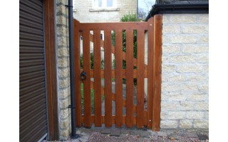 Framed Palisade Side Gates