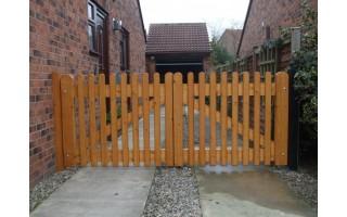 Framed Palisade Gates