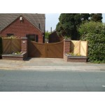 Swept Top Frame, Brace and Ledge (Hardwood)-3